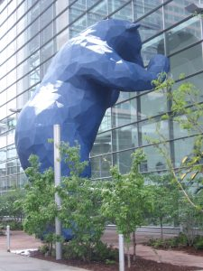 Big Blue Bear, 12 meter artwork outside Denver Convention Center